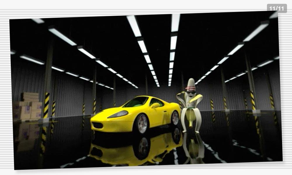 3D Modeling Sportscar Juelz Banana