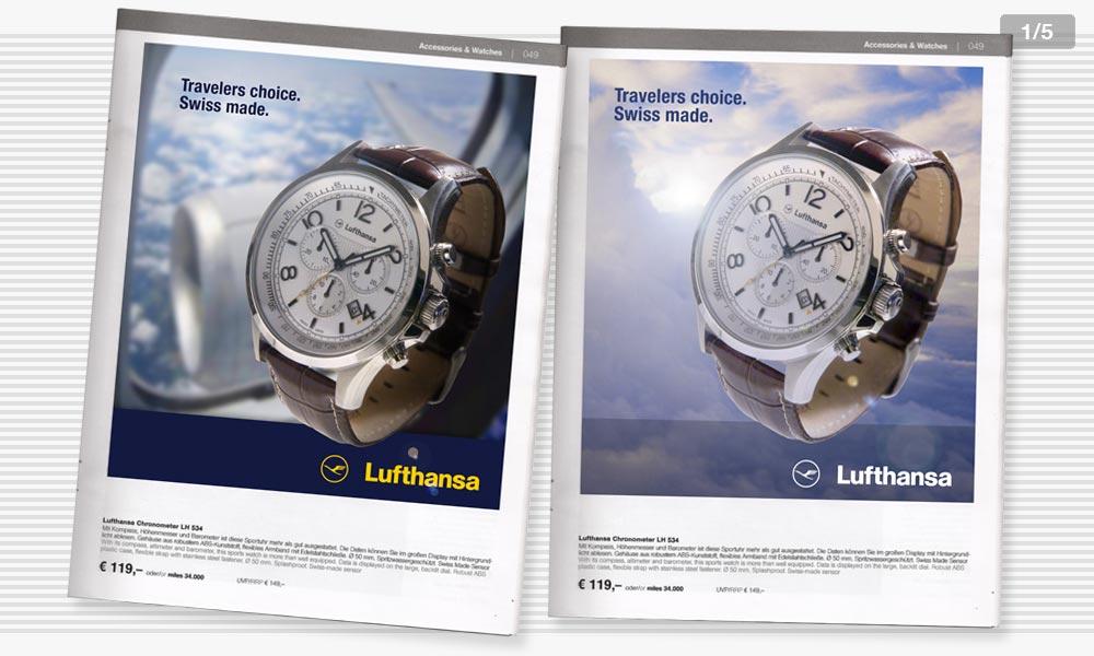 Lufthansa Anzeigenentwicklung 1