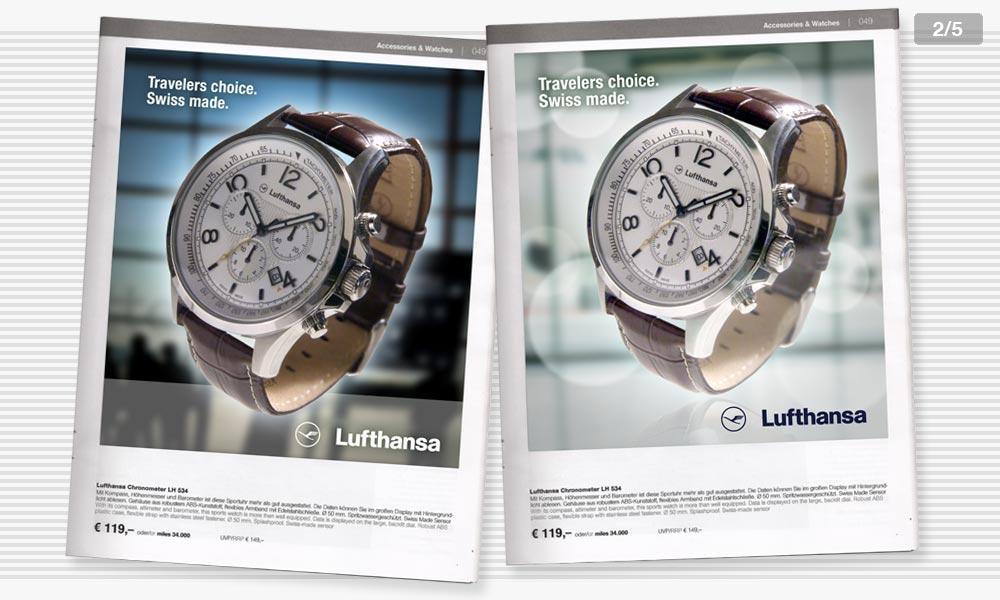 Lufthansa Anzeigenentwicklung 2